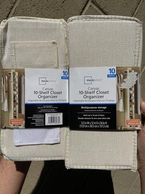 10 shelf Closet organizers 2 x $5 for Sale in Huntington Park, CA