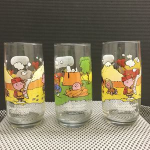 Lot 3 Camp Snoopy Collection Glasses McDonalds Charlie Brown Peanuts for Sale in Kennesaw, GA