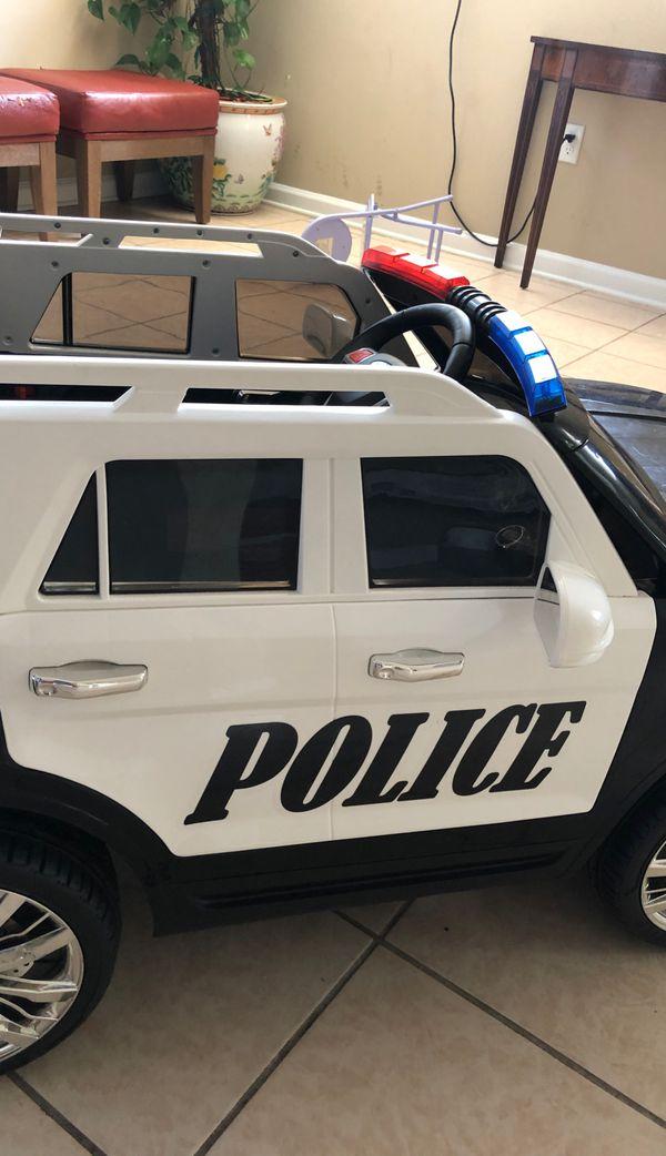 Police car for kids