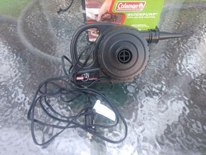 Coleman 12 volt auto air pump for Sale in Hanover, PA