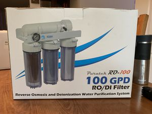 Aquamaxx puratek rodi filter with pressure gauge and flush valve for Sale in Palm Desert, CA