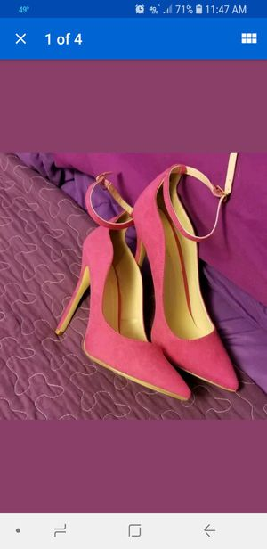 Faux Suede Hot Pink pointed toe pump with ankle strap. for Sale in NO HUNTINGDON, PA