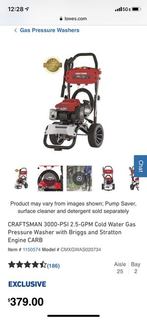 Gas pressure washer for Sale in Baltimore, MD
