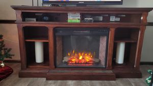 Hardwood electric fireplace for Sale in Belleville, IL