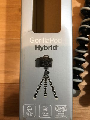 JOBY GorillaPod Hybrid Tripod for Mirrorless and 360 Cameras - A Flexible, Portable and Lightweight Tripod With a Ball Head and Bubble Level with a G for Sale in Seattle, WA