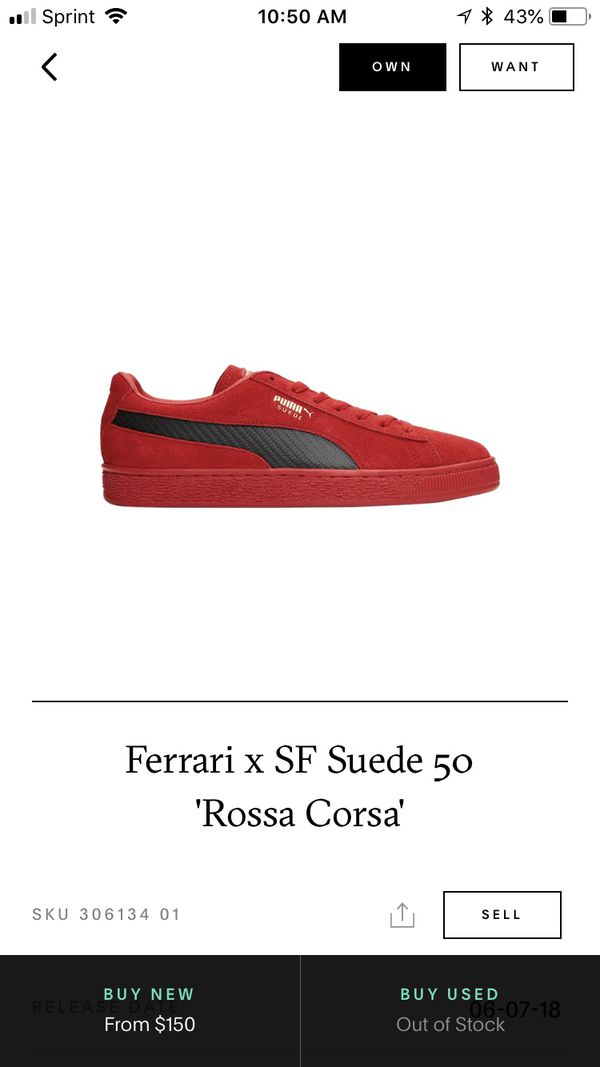 ff02b14f8d3 Puma Suede 50 Ferrari. (Sold out). DS SIZE 13 for Sale in Oakland ...