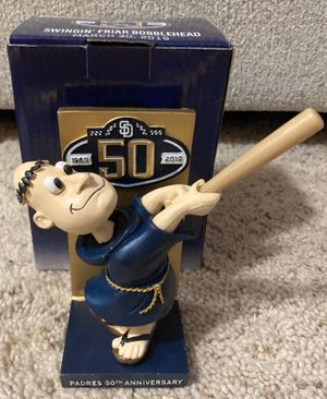 SAN DIEGO, PADRES 50TH ANNIVERSARY BOBBLE HEAD, very collectable sports memorabilia, for Sale in San Diego, CA