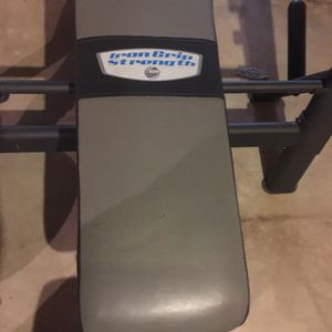 Iron Grip Weight Bench for Sale in Lake in the Hills, IL