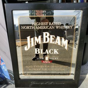 Jim Beam Black Mirror for Sale in Knightdale, NC