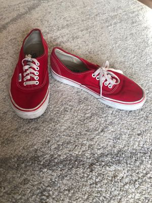 RED VANS for Sale in Euless, TX