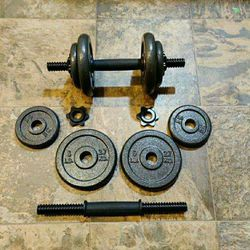 New 40lb Dumbbell Set Iron Cast for Sale in Tacoma,  WA