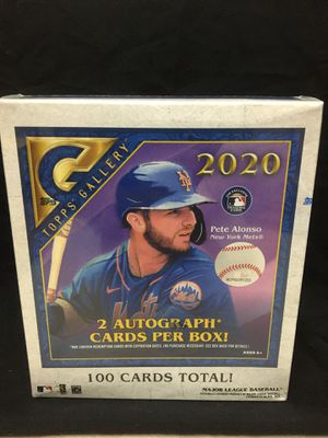 2020 Topps Gallery Baseball New Sealed Look for Rookies 2 Autos per box for Sale in Temecula, CA