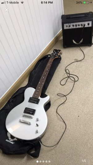 Dean Gray Electric Guitar & Dean Amplifier W/ Guitar Bag To Go for Sale in Mount Vernon, NY