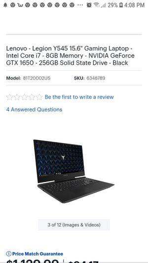 Lenovo gaming laptop for Sale in Tacoma, WA