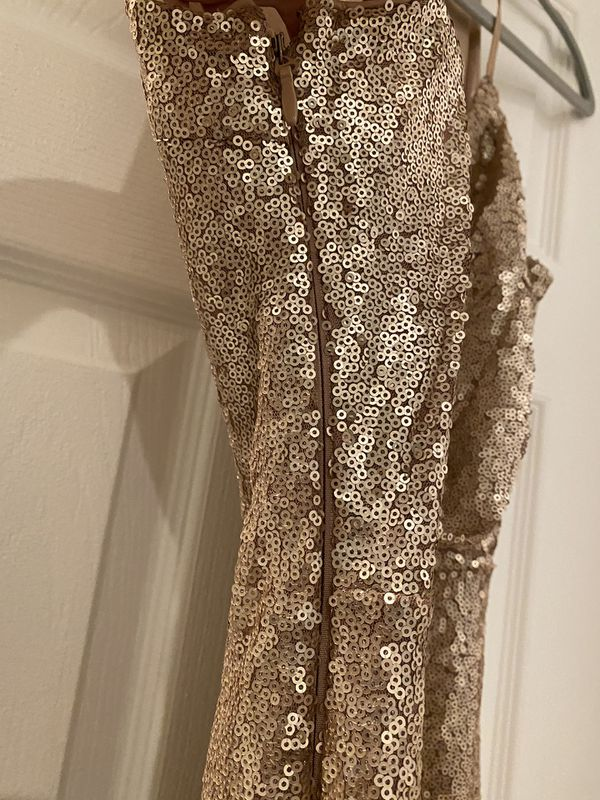 Lulus Rose Gold Evening Gown