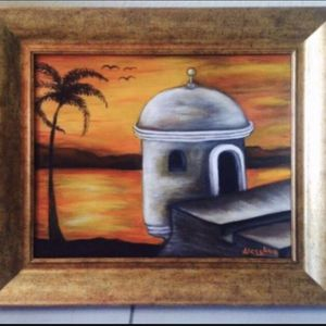 Garita hand paint on canvas by artist Aless Ava.🎨👩🏻🎨 for Sale in Miami Springs, FL