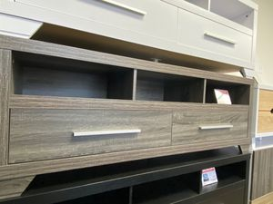 Alexa Tv Stand for Tvs up to 70 inch, Distressed Gray for Sale in Downey, CA