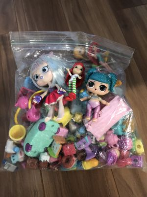 Mini dolls and lots of shopkins for Sale in Kent, WA
