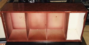 26x12x26 This is a small cherry wood shelf with 4 shelves it's got normal wear but perfect for small area organization. Located off lake mead and jon for Sale in Las Vegas, NV