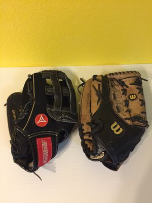 "Wilson and Regent LHT 14"" Baseball/Softball Gloves $25 Ea. for Sale in Austin, TX"