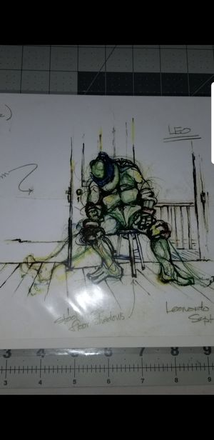Rare 90's TMNT Art work from April o'Neil barn scene for Sale in Santee, CA