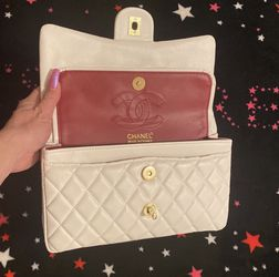 White Genuine Leather Double Flap Bag for Sale in Berkeley,  CA