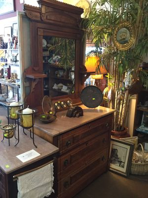 Eastlake Victorian style antique dresser with marble top for Sale in Portland, OR
