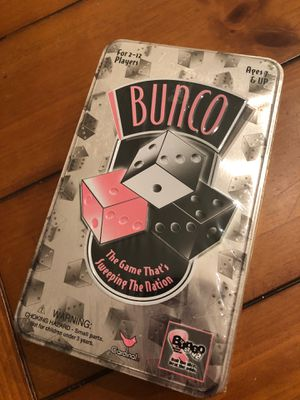 New Bunco game in tin - 2 to 12 players for Sale in AZ, US