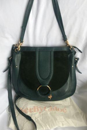 See by Chloe green leather crossbody purse + dust bag for Sale in Lynnwood, WA