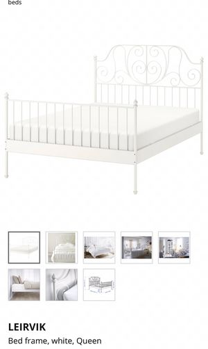 IKEA Leirvil White Bed Frame, Queen for Sale in Elk Grove, CA