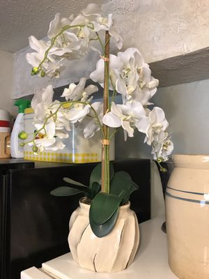 Artificial Orchid flower pot plant for Sale in Sugar Land, TX