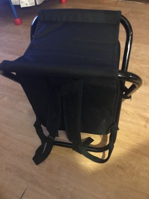 Backpack, cooler,stool /table and compartment. for Sale in Philadelphia, PA