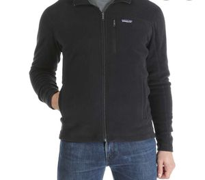 Patagonia micro D jacket fleece size L black for Sale in San Francisco, CA