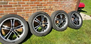 20 in Black and Chrome rims w/ Pirelli tires for Sale in St. Louis, MO