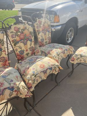 6 metal extra heavy an very sturdy chairs for Sale in Thornton, CO