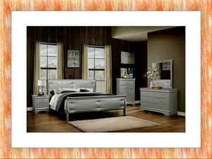 11pc Grey Marley bedroom set free and delivery for Sale in Rockville, MD
