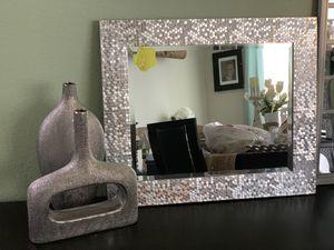 Modern silver mirror wall decor for Sale in Austin, TX