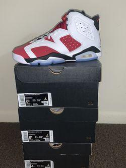 Jordan 6 Carmine 6.5Y, 4Y for Sale in Glassboro,  NJ