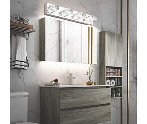 Bathroom Light,SOLFART 4 Lights Modern Glass Stainless Steel Dimming Vanity Wall Light Over Mirror Long LED Dimmable Bathroom Lighting for Sale in Rancho Cucamonga, CA