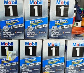 Mobil 1 5W-20 High Mileage Synthetic Motor Oil for Sale in Lake Worth,  FL