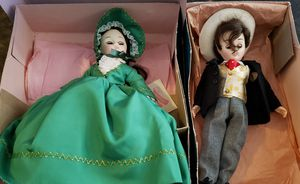 Vintage madame Alexander scarlett and Rhett gone with the wind dolls for Sale in Killeen, TX