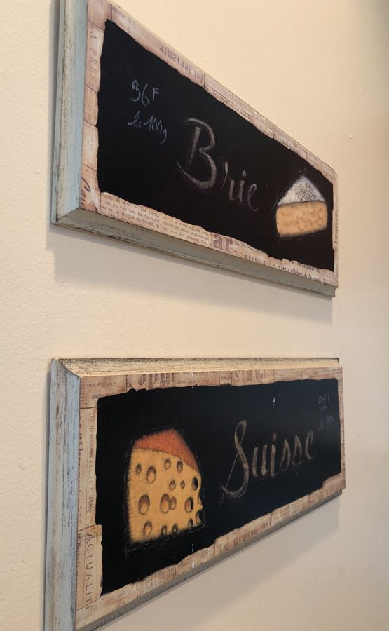 Vintage Cheese Signs