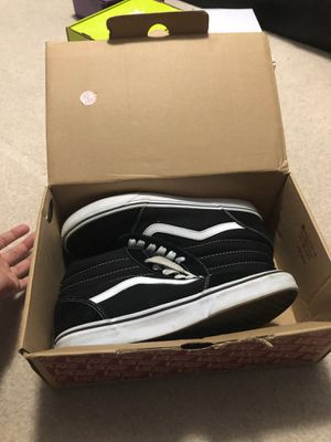 Hightops black and white vans really good condition basically brand new for Sale in Orland Park, IL