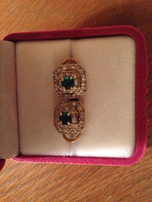 Antique diamond and emerald earrings with clips for Sale in Washington, DC