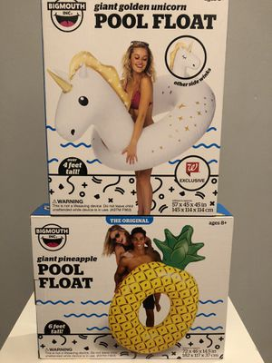 $20 for this 2pcs of Pool float bundle it's all brand new and pick up Gahanna for Sale in Columbus, OH