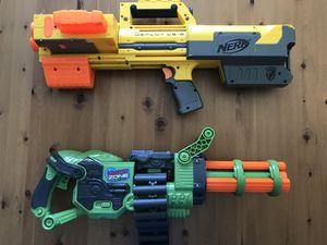 Dart Zone Covert Ops Rapid Fire Blasting Dart Gun w/ Belt Motorized Battery And NERF N-STRIKE DEPLOY CS-6 Toy Blaster Dart Gun with Tactical Flood for Sale in Alexandria, VA