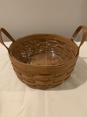 Longaberger darning basket, protector and lid for Sale in Northfield, OH