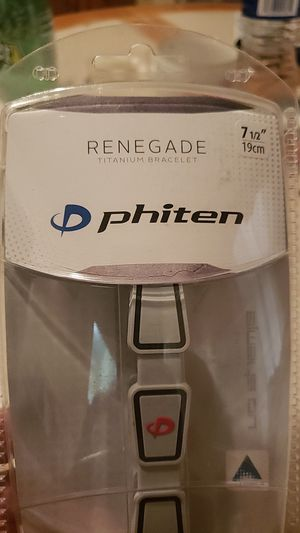 Phiten Renegade Titanium Bracelet for Sale in Berlin, CT