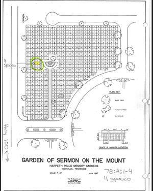 4 cemetery plots at Harpeth Hills Highway 100 for Sale in Bellevue, TN