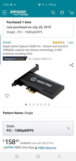 Elgato HD60 Pro for Sale in Fresno, CA